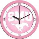 "Southern Methodist (SMU) Mustangs 12"" Pink Wall Clock"