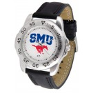 Southern Methodist (SMU) Mustangs Men's Sport Watch with Leather Band