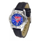 Southern Methodist (SMU) Mustangs Sport AnoChrome Ladies Watch with Leather Band