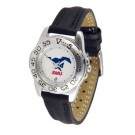 Southern Methodist (SMU) Mustangs Ladies Sport Watch with Leather Band