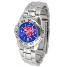 Southern Methodist (SMU) Mustangs Sport AnoChrome Ladies Watch with Steel Band