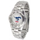 Southern Methodist (SMU) Mustangs Ladies Sport Watch with Stainless Steel Band
