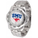 Southern Methodist (SMU) Mustangs Sport Steel Band Men's Watch