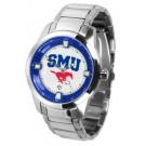 Southern Methodist (SMU) Mustangs Titan Steel Watch