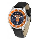 Syracuse Orangemen Competitor AnoChrome Men's Watch with Nylon/Leather Band and Colored Bezel