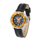 Syracuse Orange (Orangemen) Competitor Ladies AnoChrome Watch with Leather Band and Colored Bezel
