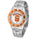 Syracuse Orangemen Competitor Watch with a Metal Band