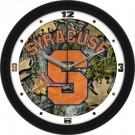"Syracuse Orangemen 12"" Camo Wall Clock"