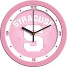 "Syracuse Orangemen 12"" Pink Wall Clock"