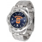 Syracuse Orangemen Sport Steel Band Ano-Chrome Men's Watch