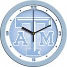 """Texas A & M Aggies 12"""" Blue Wall Clock"""