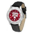 Texas A & M Aggies Competitor AnoChrome Men's Watch with Nylon/Leather Band
