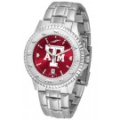 Texas A & M Aggies Competitor AnoChrome Men's Watch with Steel Band