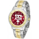 Texas A & M Aggies Competitor AnoChrome Two Tone Watch
