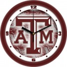 "Texas A & M Aggies 12"" Dimension Wall Clock"
