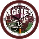 """Texas A & M Aggies 12"""" Helmet Wall Clock"""
