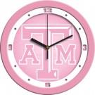 "Texas A & M Aggies 12"" Pink Wall Clock"