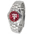 Texas A & M Aggies Sport AnoChrome Ladies Watch with Steel Band