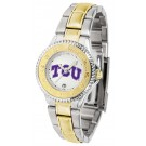 Texas Christian Horned Frogs Competitor Ladies Watch with Two-Tone Band