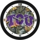 "Texas Christian Horned Frogs 12"" Camo Wall Clock"
