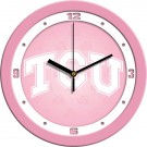 "Texas Christian Horned Frogs 12"" Pink Wall Clock"