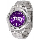 Texas Christian Horned Frogs Sport Steel Band Ano-Chrome Men's Watch