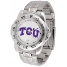 Texas Christian Horned Frogs Sport Steel Band Men's Watch