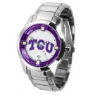 Texas Christian Horned Frogs Titan Steel Watch