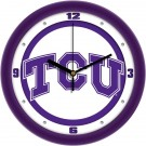 "Texas Christian Horned Frogs Traditional 12"" Wall Clock"