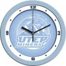 "UTEP Texas (El Paso) Miners 12"" Blue Wall Clock"