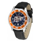 UTEP Texas (El Paso) Miners Competitor AnoChrome Men's Watch with Nylon/Leather Band and Colored Bezel