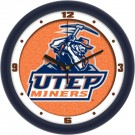 "UTEP Texas (El Paso) Miners 12"" Dimension Wall Clock"