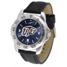 UTEP Texas (El Paso) Miners Sport AnoChrome Men's Watch with Leather Band