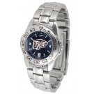 UTEP Texas (El Paso) Miners Sport AnoChrome Ladies Watch with Steel Band