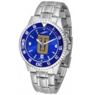 Tulsa Golden Hurricane Competitor AnoChrome Men's Watch with Steel Band and Colored Bezel