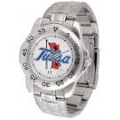 Tulsa Golden Hurricane Sport Steel Band Men's Watch