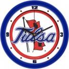 "Tulsa Golden Hurricane Traditional 12"" Wall Clock"