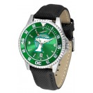 Tulane Green Wave Competitor AnoChrome Men's Watch with Nylon/Leather Band and Colored Bezel