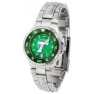 Tulane Green Wave Competitor AnoChrome Ladies Watch with Steel Band and Colored Bezel
