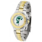 Tulane Green Wave Competitor Ladies Watch with Two-Tone Band