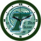 "Tulane Green Wave 12"" Dimension Wall Clock"