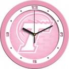 """Tulane Green Wave 12"""" Pink Wall Clock"""
