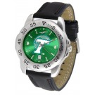 Tulane Green Wave Sport AnoChrome Men's Watch with Leather Band