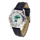 Tulane Green Wave Ladies Sport Watch with Leather Band