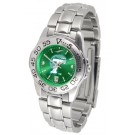 Tulane Green Wave Sport AnoChrome Ladies Watch with Steel Band