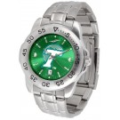 Tulane Green Wave Sport Steel Band Ano-Chrome Men's Watch
