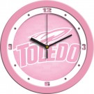 "Toledo Rockets 12"" Pink Wall Clock"