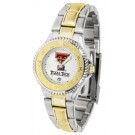 Texas Tech Red Raiders Competitor Ladies Watch with Two-Tone Band