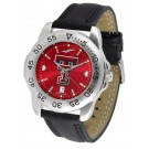 Texas Tech Red Raiders Sport AnoChrome Men's Watch with Leather Band