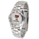 Texas Tech Red Raiders Gameday Sport Ladies' Watch with a Metal Band